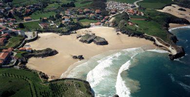 Playa Palombina en Llanes
