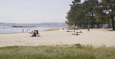 Playa Pasaxe en Vilanova de Arousa