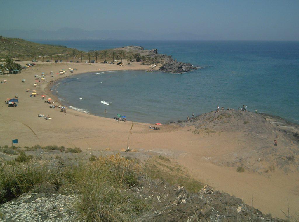 Playa Percheles en Mazarrón