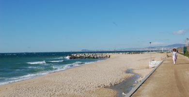 Playa Pla de l'Os en Premià de Mar