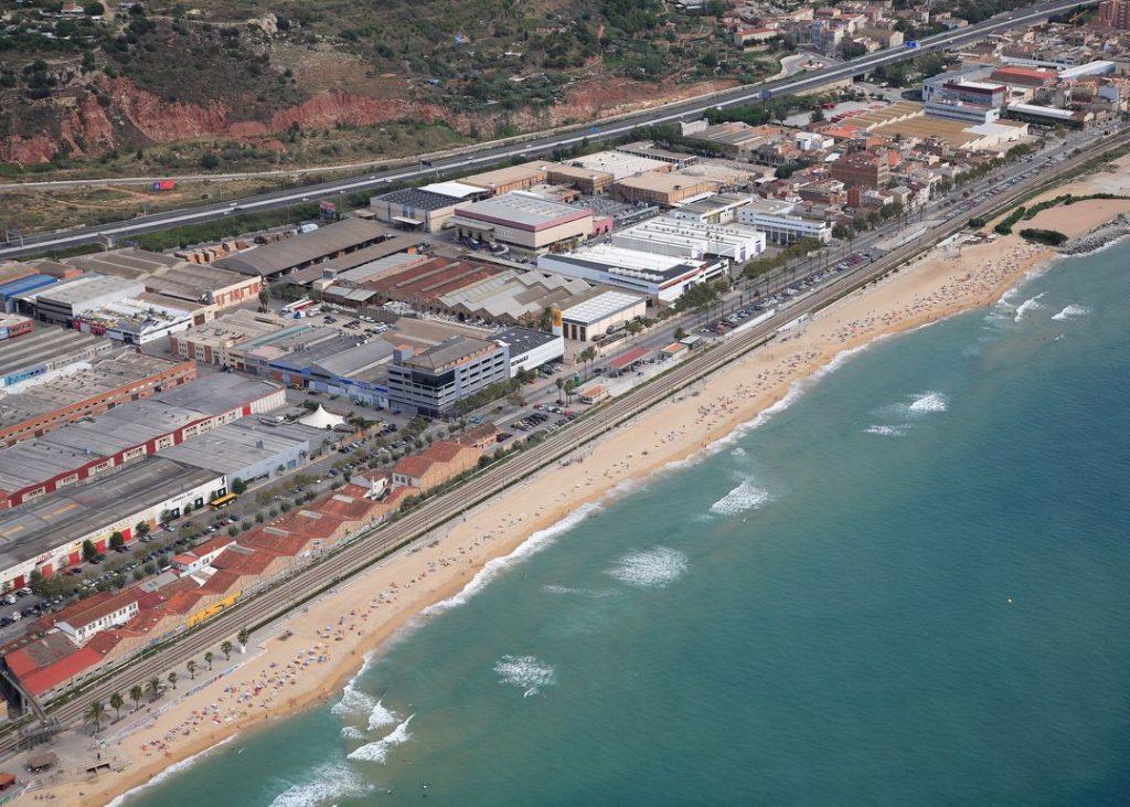 Playa Platja de la Barca Maria en Badalona