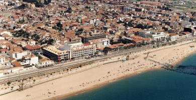 Playa Platja de l'Astillero en Malgrat de Mar