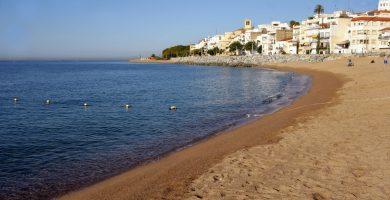 Playa Platja de les Barques en Sant Pol de Mar