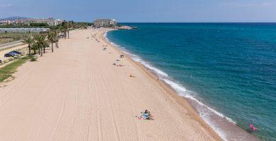 Playa Platja de les Dunes en Santa Susanna