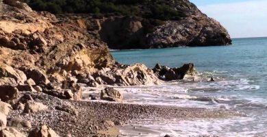 Playa Platja de L'Home Mort en Sitges