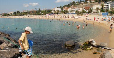 Playa Platja del Bassiot en Caldes d'Estrac
