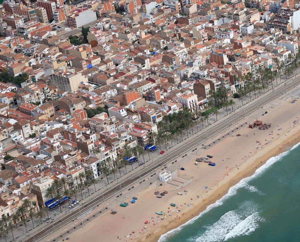 Playa Platja dels Patins de Vela en Badalona