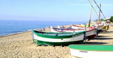 Playa Playa dels Pescadors en Pineda de Mar