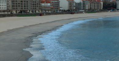 Playa Pociñas en Sanxenxo