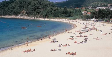 Playa Portomaior en Bueu