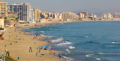 Playa Pudrimel del Mar Menor en San Javier