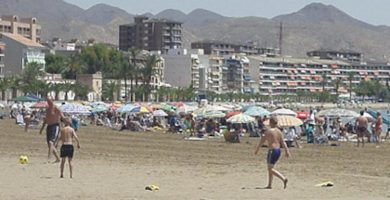 Playa Puerto de Mazarrón en Mazarrón
