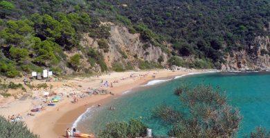 Playa Punta Canyerets en Santa Cristina d'Aro