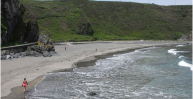 Playa Punxeo en Valdés