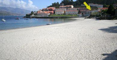Playa Quenxe en Corcubión