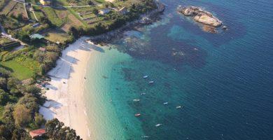 Playa Rabáns en Cangas