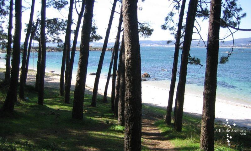 Playa Rebelló en A Illa de Arousa