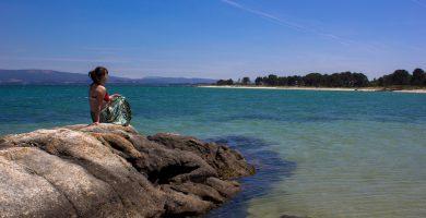 Playa Riasón en A Illa de Arousa