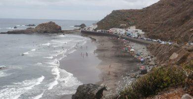 Playa Roque de las Bodegas en Santa Cruz de Tenerife