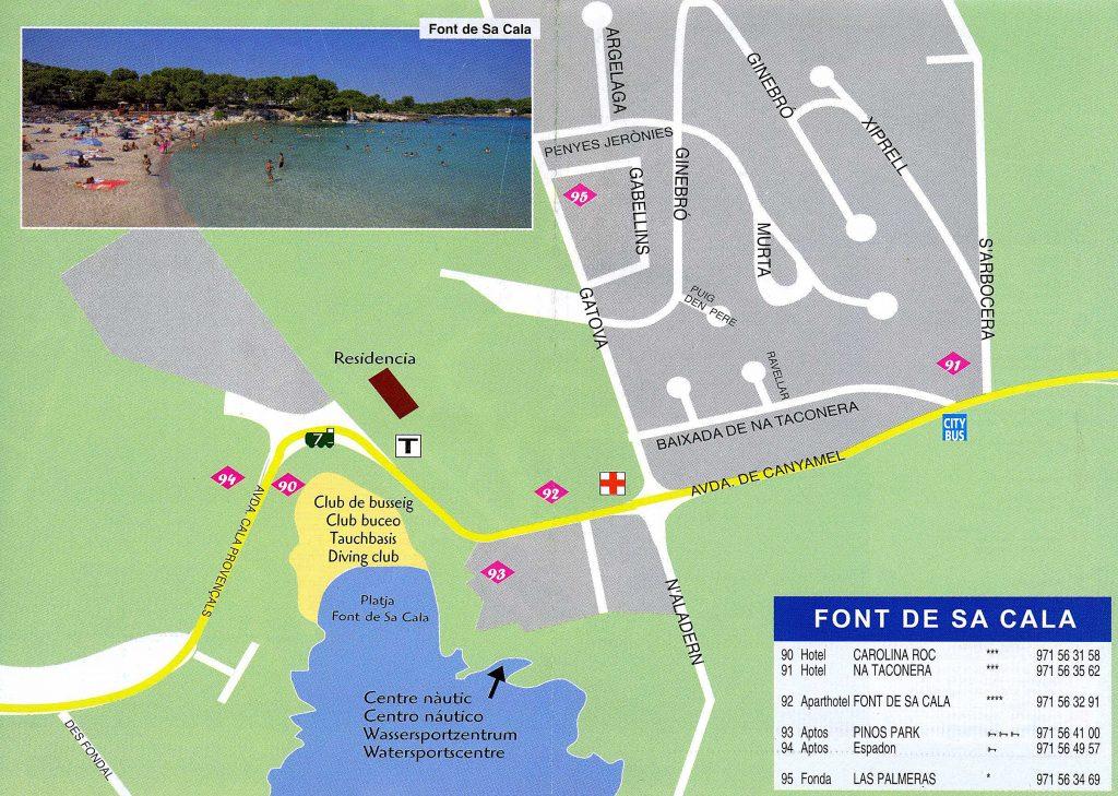 Playa Sa Font de Sa Cala en Capdepera