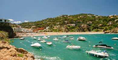 Playa Sa Riera en Begur