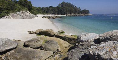 Playa San Xián en Cangas