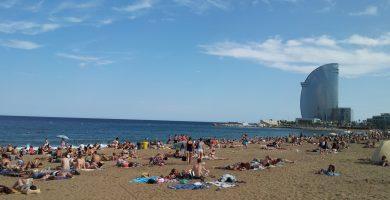 Playa Sant Sebastià en Sitges