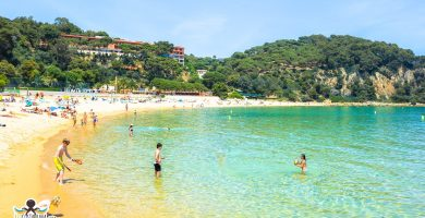 Playa Santa Cristina en Oleiros