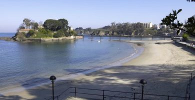 Playa Santa Cruz en Oleiros