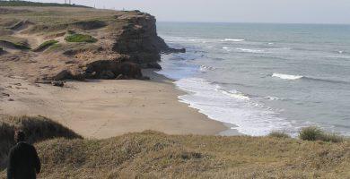 Playa Santa Isabel en Corcubión