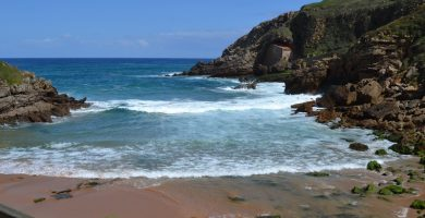 Playa Santa Justa en Santillana del Mar