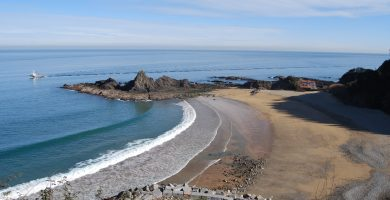 Playa Saturrarán en Mutriku