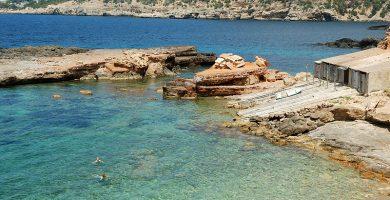 Playa S'Illot d'En Renclí en Sant Joan de Labritja