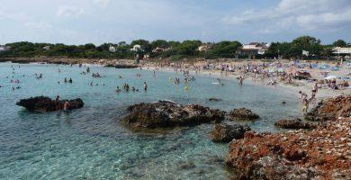 Playa Son Xoriguer en Ciutadella de Menorca