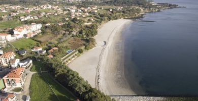 Playa Tanxil en Rianxo