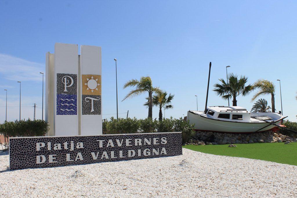 Playa Tavernes en Tavernes de la Valldigna
