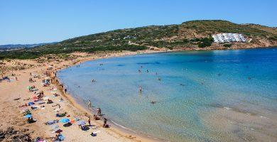 Playa Tirant en Es Mercadal