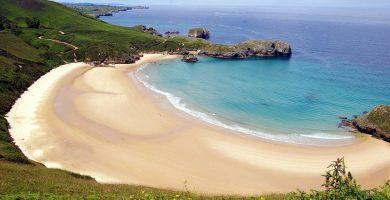 Playa Torimbia en Llanes
