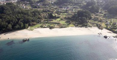 Playa Tulla en Bueu