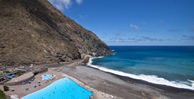 Playa Vallehermoso en Vallehermoso