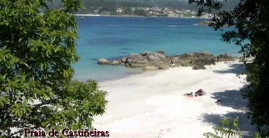 Playa Vilariño en Cangas