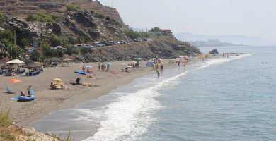Playa Wilches en Torrox